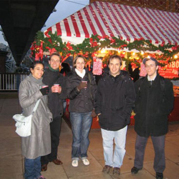 The Group at the German Christmas Market in London
