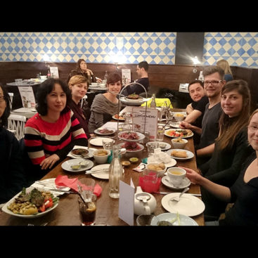 DNA Replication Group, Christmas 2016 lunch at The Real Greek at Westfield, London