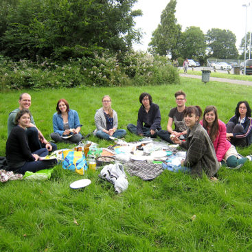 DNA Replication Group picnic at Wormwood Scrubs