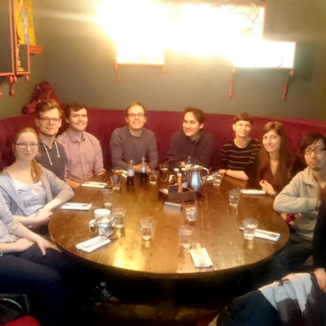 DNA Replication Group, Christmas 2017 lunch at Balans Soho Society in London, UK