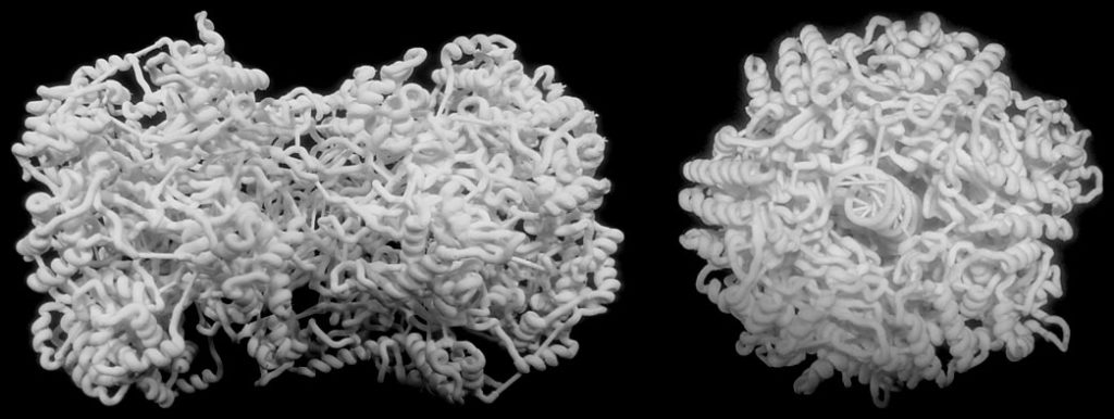 3D-printed model of the DNA bound MCM2-7 double-hexamer at atomic resolution
