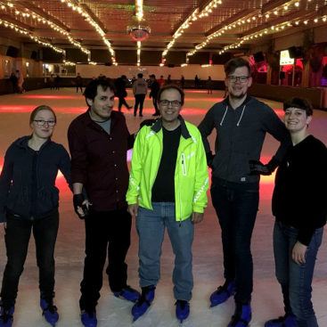 The DNA Replication Group goes ice skating at Queens Ice Rink, London