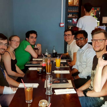 The DNA Replicationg Group has dinner at Okasan Sushi, London.