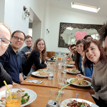 Farewell lunch for Marta Barbon at Fitou's Thai Restaurant, North Kensington, London
