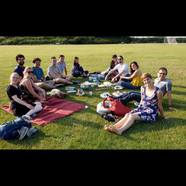 The DNA Replication Group enjoys a summer day picnic at Wormwood Scrubs.