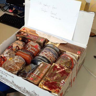 Traditional German Christmas sweets from lab alumnus Stefan Samel