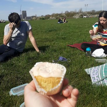 DNA Replication Group at Wormwood Scrubs during its first lunch outside this year