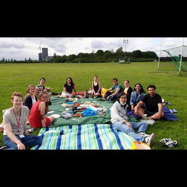 DNA Replication Group goodbye picnic at Wormwood Scrubs for Vera Leber and Indiana Magdalou